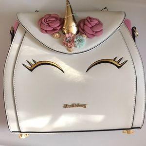 Shoe Bakery white Unicorn Cake Backpack Bag New